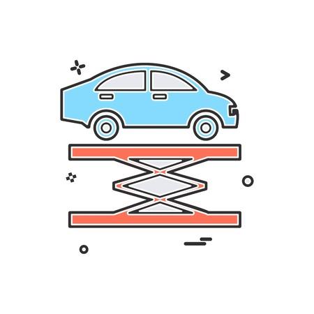 Car lifter repairing icon vector design Stock Illustratie