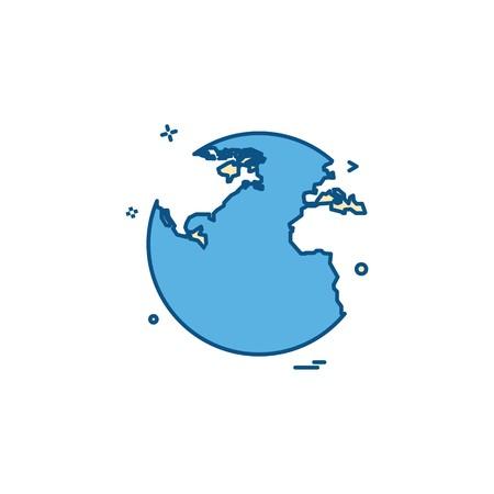 World globe icon design vector