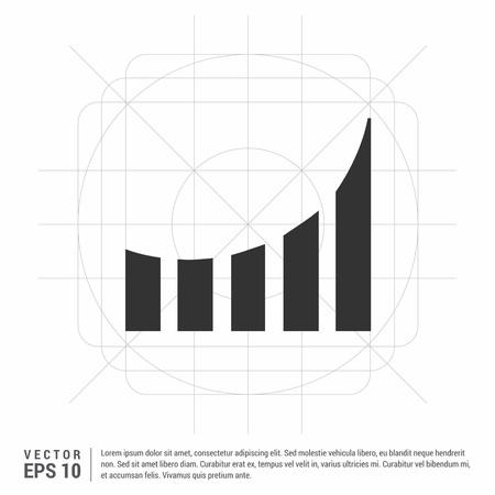 Business graph icon Ilustração