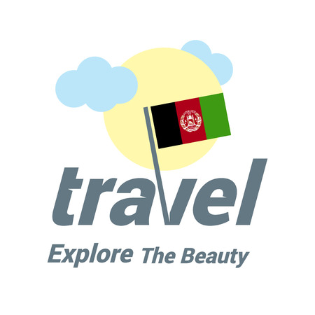Afghanistan travel icon Illustration
