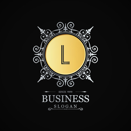 Alphabetic  design with elegant design and typography vector