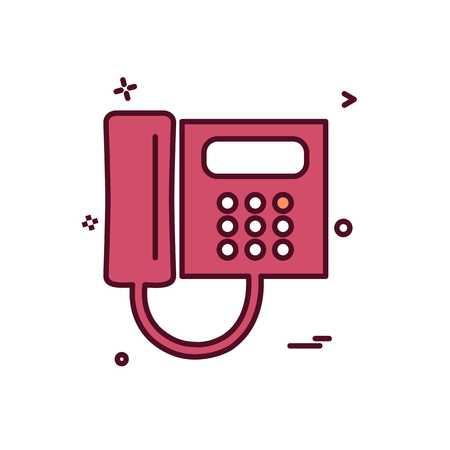 TelePhone icon design vector 矢量图像