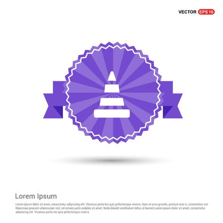 Cone Icon - Purple Ribbon banner