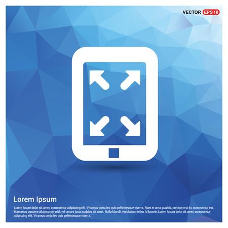 Digital tablet full screen icon 矢量图像