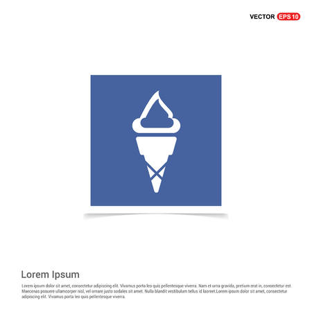 Ice cream icon - Blue photo Frame