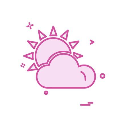 Clouds icon design vector 矢量图像