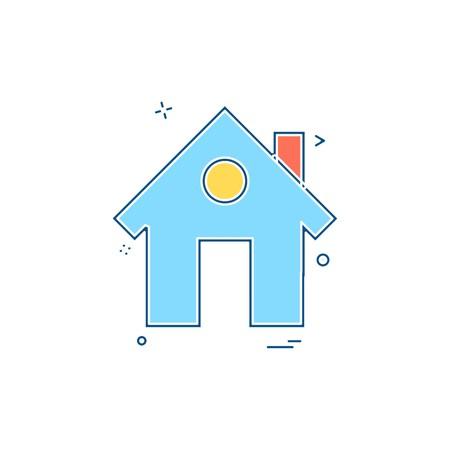 Home icon design vector 矢量图像