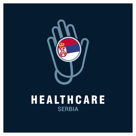 Health care   with country flag design vector 矢量图像
