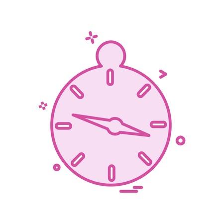 Compass icon design vector