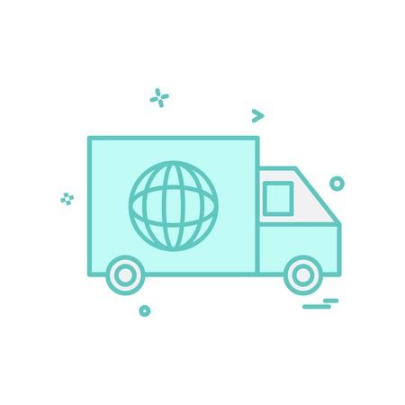 Truck icon design vector 矢量图像
