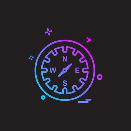 Clock icon design vector 矢量图像