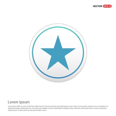 Star Icon - white circle button