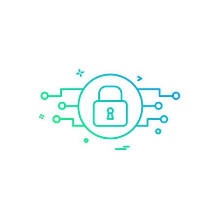 Password and security icon design vector 矢量图像