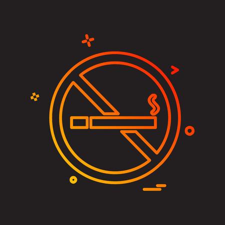 No Smoking icon design vector