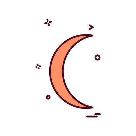 Crescent icon design vector