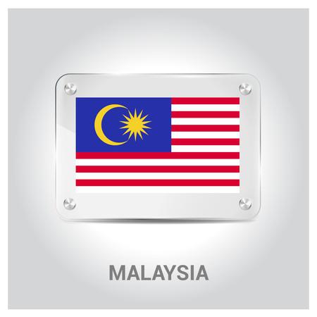 Malaysia flags design vector