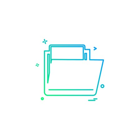 Folder icon design vector Ilustrace