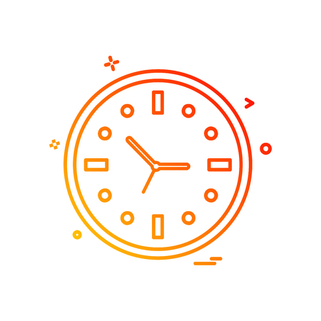 Clock icon design vector 向量圖像