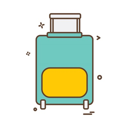 Travel bag icon design vector