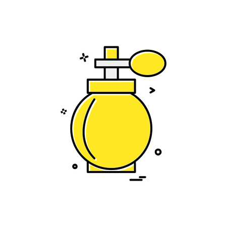 perfume icon design vector 向量圖像