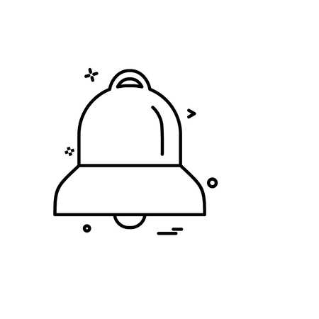 Bell icon design vector Иллюстрация