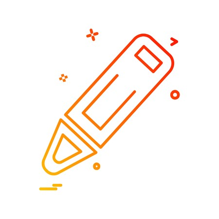 Pencil icon design vector Иллюстрация