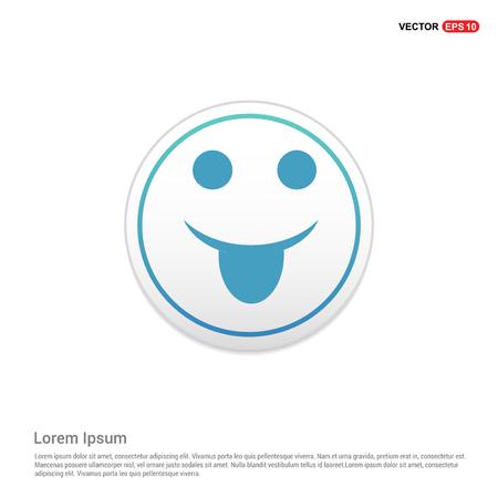 Emoji icon - white circle button
