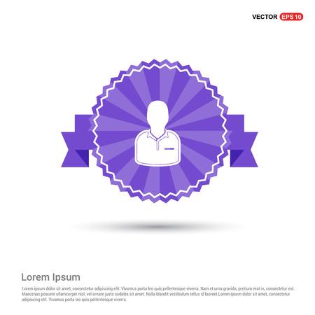 Football Referee Icon - Purple Ribbon banner