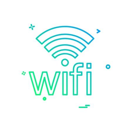 Wifi icon design vector