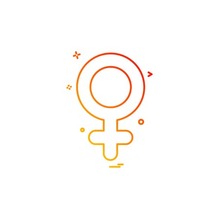 Female icon design vector