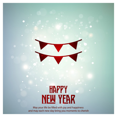 New Year icons with typogrpahy vector