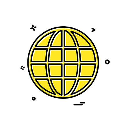 Globe icon design vector