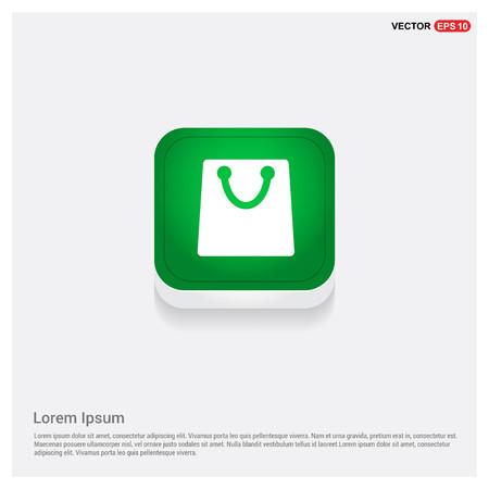 purse icon Green Web Button - Free vector icon Illustration