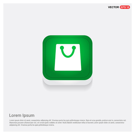 purse icon Green Web Button - Free vector icon 向量圖像