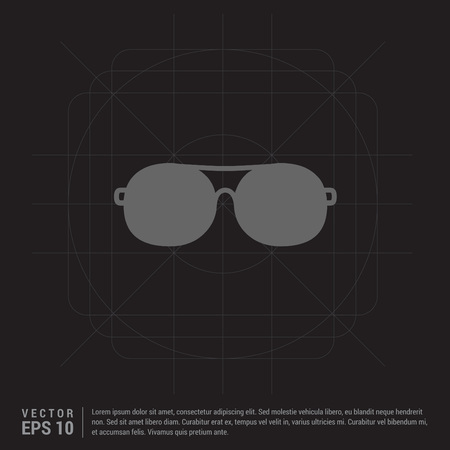 Stylish eyeglasses icon Иллюстрация