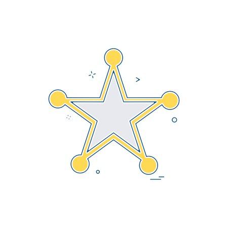 badge police award law icon vector design