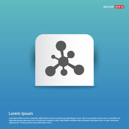 Network, share icon - Blue Sticker button Stock Vector - 118372541