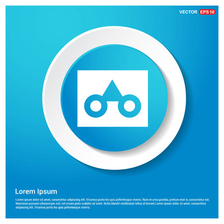 glasses frame icon Abstract Blue Web Sticker Button - Free vector icon