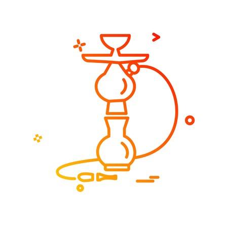 Hookah icon design vector