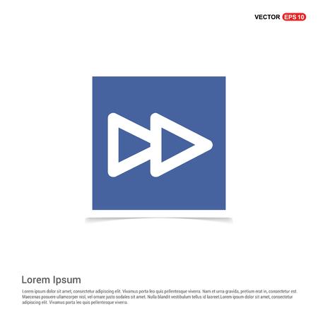Fast forward icon - Blue photo Frame