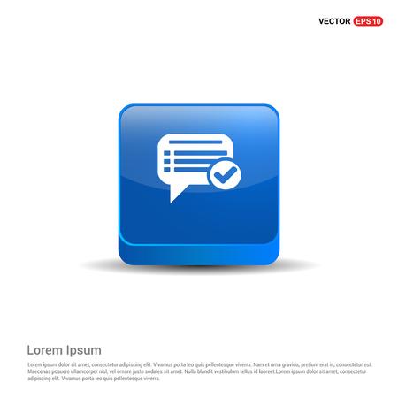 Ok Chat Speech Bubble - 3d Blue Button.