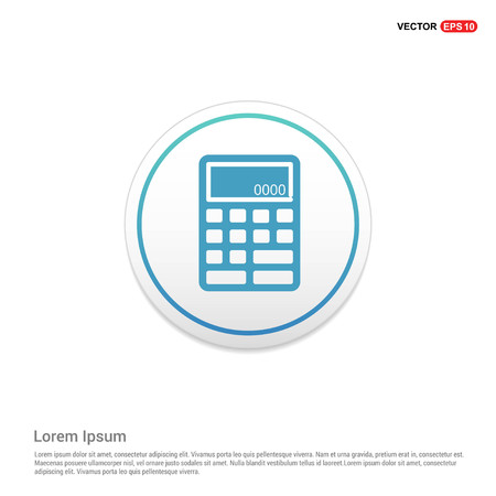 Electronic calculator icon Hexa White Background icon template - Free vector icon