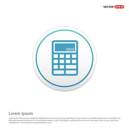Electronic calculator icon Hexa White Background icon template - Free vector icon