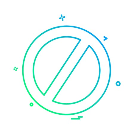 Not Allowed icon design vector