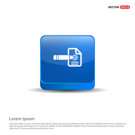 Document Icon - 3d Blue Button.