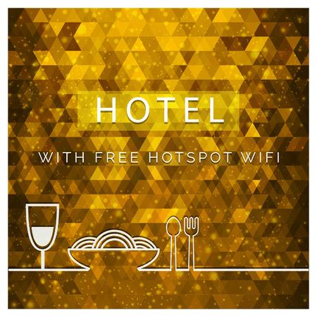 Elegent Hotel design card with typography vector Stock Vector - 115687275