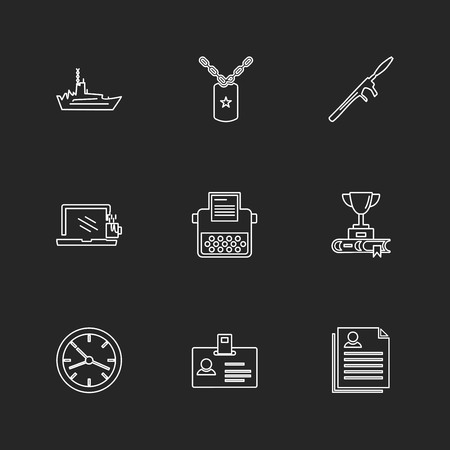 army , armour , awards , wars , air crafts , guns , gernades , target , bullet proof jacket , message , helicopter , helipad , ships , fire , commando , icon, vector, design,  flat,  collection, style, creative,  icons