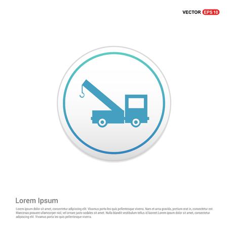 Crane Icon - white circle button