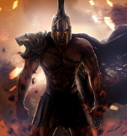 guerrero: Enojado guerrero