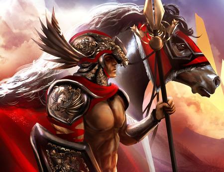 horse warrior: Warrior